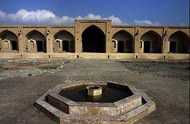 Kenargerd Caravansary a tourist site in Ebrahim Abad District