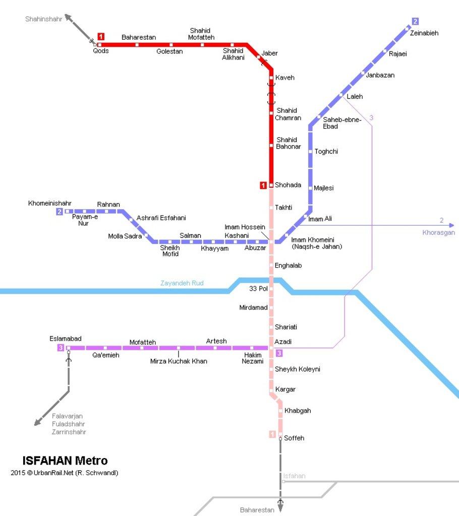 Esfahan Metro Map